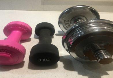 Hantlar i olika vikter