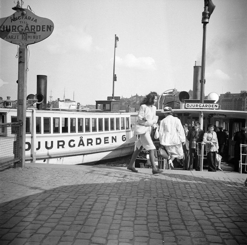 Djurgårdsfärja Skeppsbron 1943