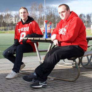 Tobias Vallin och Patrik Gahne är trogna supportrar