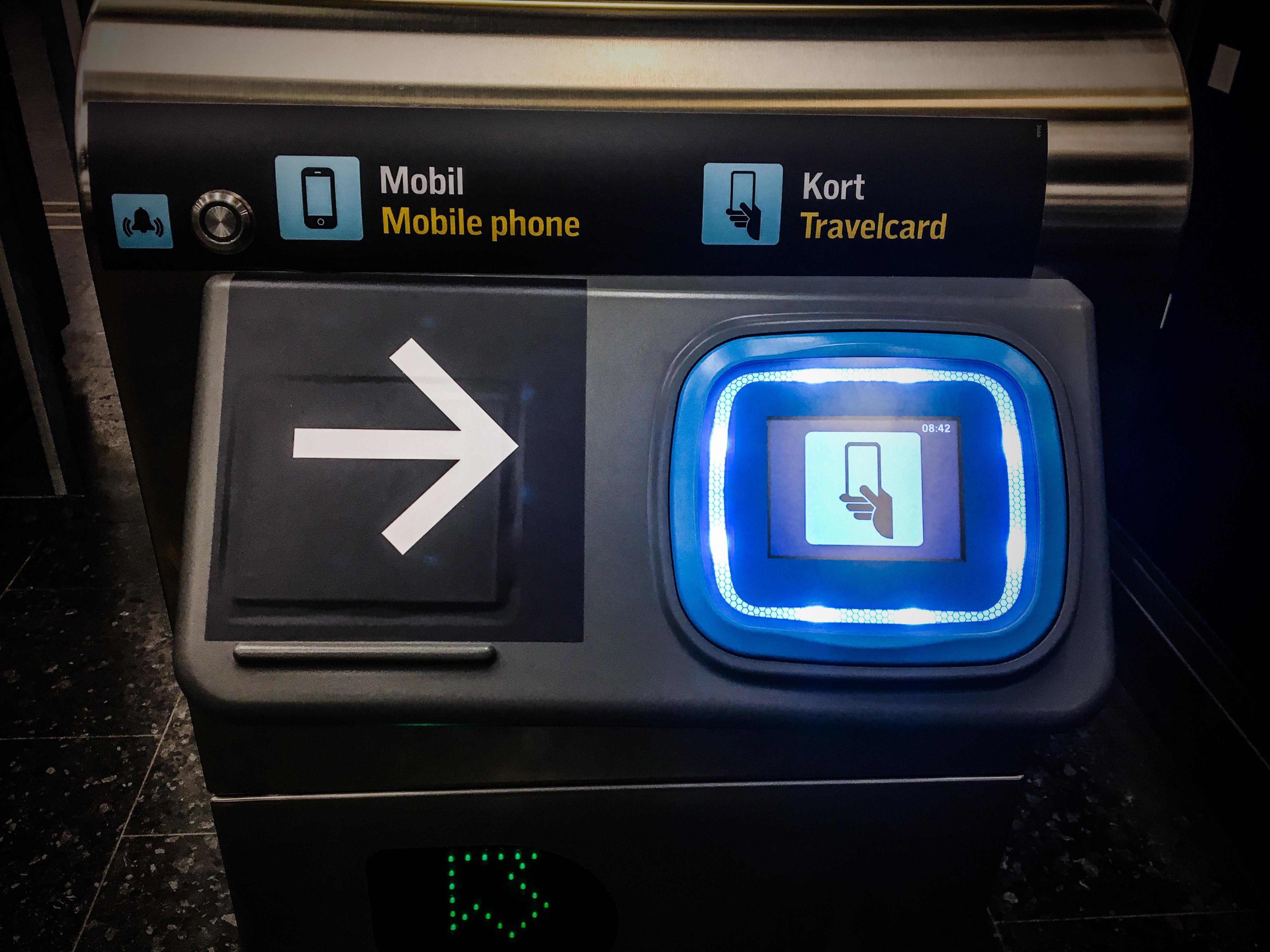 Ny kortläsare i tunnelbanan