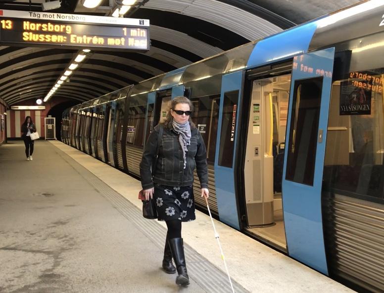 Synskadad i tunnelbanan