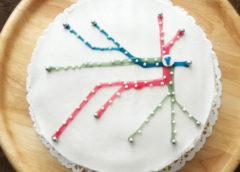 Snabb tårta med tunnelbanemotiv