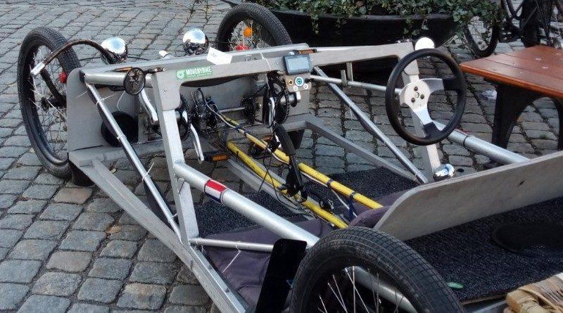 En bild på cykelbilen som Dirk har byggt